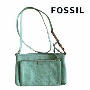 Fossil Leather Mini Crossbody Purse